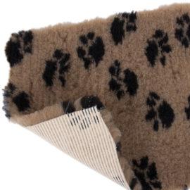Vet Bed Tæppe til Hund Brun m/ Sorte Poter