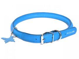Collar Soft Rundsyet læderhalsbånd, lyseblå