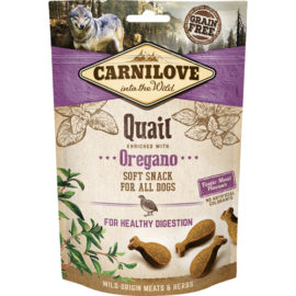 Carnilove dog semi moist snack, vagtel