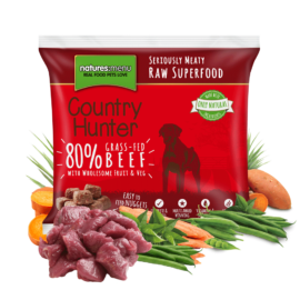Natures Menu Raw Nuggets, Country Hunter, 80% Fritgående Okse