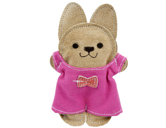 HuggleHounds Natural Leather Bunny Big-Wee