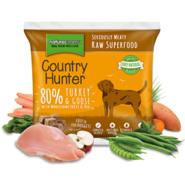 Natures Menu Raw Nuggets, Country Hunter, 80% Kalkun og Gås