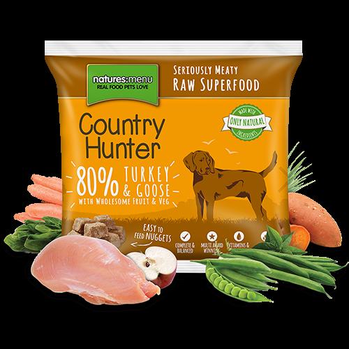 Natures Menu Raw Nuggets, Country Hunter, 80% Kalkun og Gås