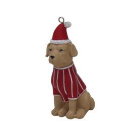 Juletræspynt, siddende hund
