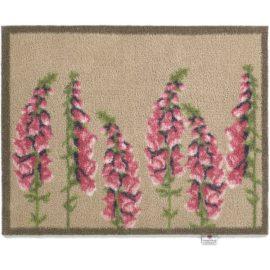 Hug Rug Øko Dørmåtte, lyserøde blomster