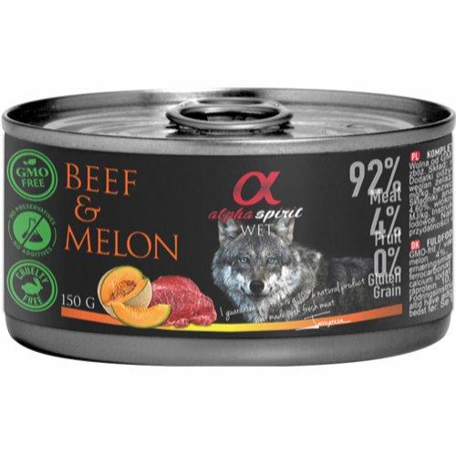 Alpha Spirit vådfoder med oksekød og melon