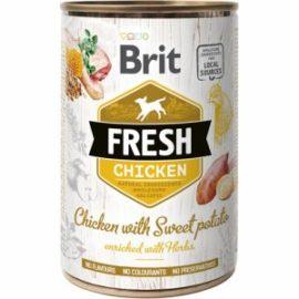 Brit Fresh vådfoder med kylling og sød kartoffel