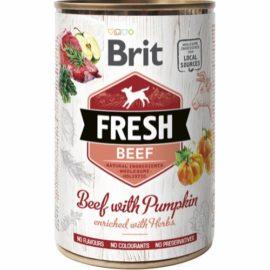 Brit Fresh vådfoder med oksekød og græskar