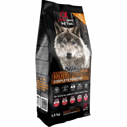 Alpha Spirit Komplet Semi-Moist Hundefoder Multiprotein 1,5 kg.