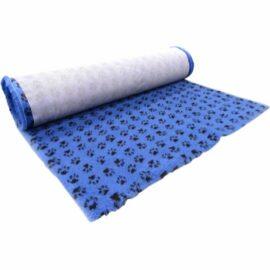 Vet Bed Tæppe til Hund Blå med Poter