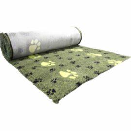 Vet Bed Tæppe til Hund Grøn med Poter